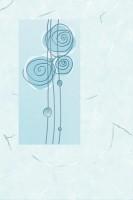 Декор Веста D голубой с люстром 200х300 мм