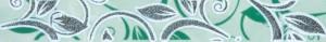 Бордюр С Цветы зеленый 35х250 мм