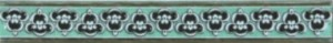 Бордюр С Пейзаж зеленый 35х250 мм