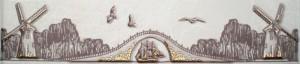 Арго Бордюр В 60 х 280 с золотом