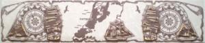 Арго Бордюр В1 60 х 280 с золотом