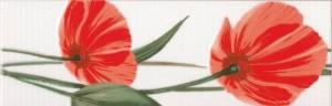 Бордюр Капри-Мак красный 80х250 мм