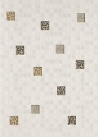 Декор Квадро мозаика белый 250х350 мм