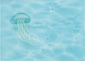 Декор Лазурь-Медуза 250х350 мм