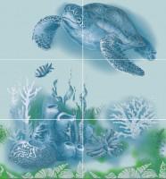 Панно Лазурь-Черепаха 750х700 мм