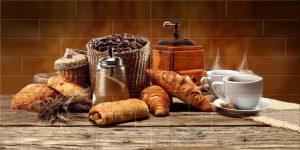 Брик Кофе кремовый (панно из 4х плиток) 1200*600 мм