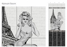 Франция Башня (4 панели)