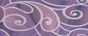 Arabeski purple decor 01 250*600 мм