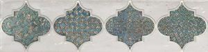 Solera turquoise decor 01 75*300 мм